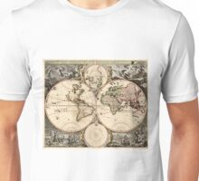 Vintage Map of The World (1690) Unisex T-Shirt