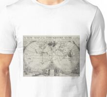 Vintage Map of The World (1700) 2 Unisex T-Shirt