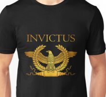 Roman Invictus Eagle, Golden on Black Unisex T-Shirt