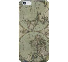 Vintage Map of The World (1702) iPhone Case/Skin