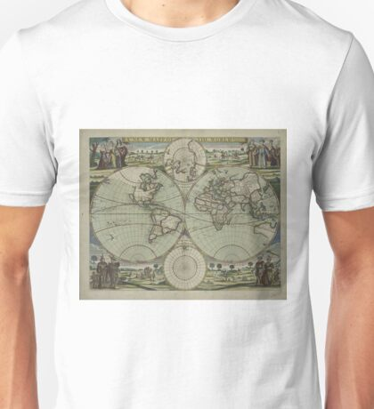 Vintage Map of The World (1702) Unisex T-Shirt