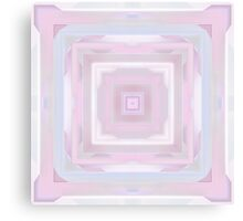 Pastel Pink and Blue Squares Canvas Print