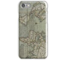 Vintage Map of The World (1702) 2 iPhone Case/Skin
