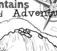 Mountains and Adventure Sticker