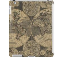 Vintage Map of The World (1702) 3 iPad Case/Skin