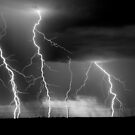 Lightning Bolts in Black & White by Qnita