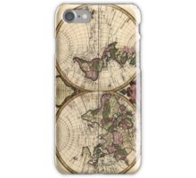 Vintage Map of The World (1720) iPhone Case/Skin