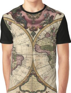 Vintage Map of The World (1720) Graphic T-Shirt