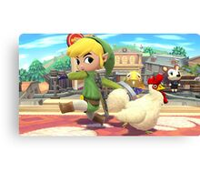 Super Smash Bros. Toon Link and Cucco Canvas Print