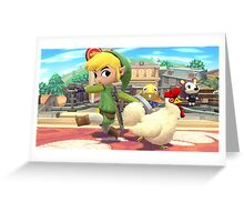 Super Smash Bros. Toon Link and Cucco Greeting Card