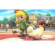 Super Smash Bros. Toon Link and Cucco Photographic Print