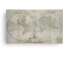Vintage Map of The World (1736) Metal Print