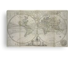 Vintage Map of The World (1736) Canvas Print
