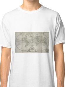 Vintage Map of The World (1736) Classic T-Shirt