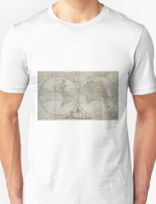 Vintage Map of The World (1736) Unisex T-Shirt