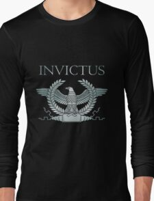 Roman Silver Invictus Eagle Long Sleeve T-Shirt