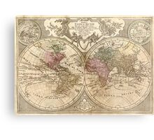 Vintage Map of The World (1775) 3 Metal Print