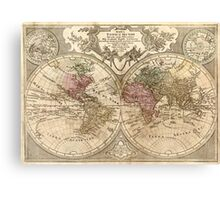 Vintage Map of The World (1775) 3 Canvas Print