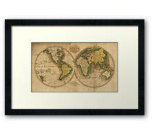 Vintage Map of The World (1795) 2 Framed Print