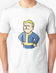 Fallout | Vault Boy | Mad | Design | White Background | High Quality T-Shirt