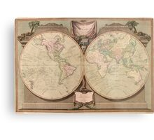 Vintage Map of The World (1808) Metal Print