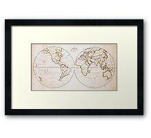 Vintage Map of The World (1811) 2 Framed Print
