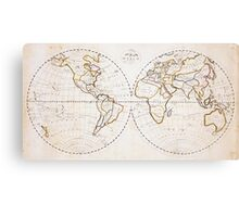 Vintage Map of The World (1811) 2 Metal Print