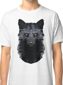 Low-poly Geometric Black Fox Classic T-Shirt