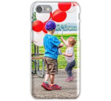 Chasing Balloons iPhone Case/Skin