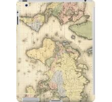 Vintage Map of The World (1840) iPad Case/Skin