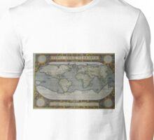 Vintage Map of The World (1595) 2 Unisex T-Shirt