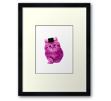 Top hat cat Framed Print