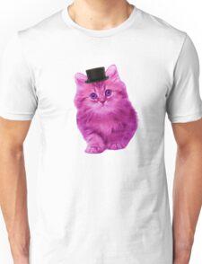 Top hat cat Unisex T-Shirt