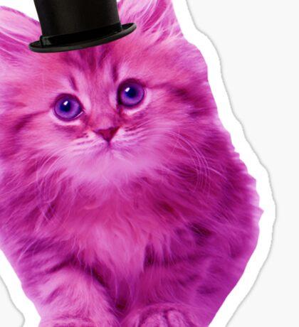 Top hat cat Sticker