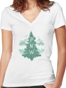 Pacific Northwest Women's Fitted V-Neck T-Shirt