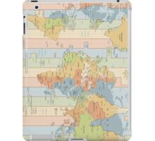 World Time Zone Map iPad Case/Skin