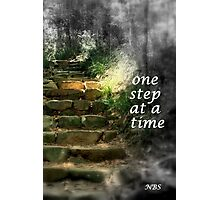 One Step at a Time Photographic Print