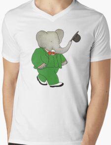 Babar l'Elephante Mens V-Neck T-Shirt