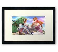Super Smash Bros. Link and Zelda Framed Print
