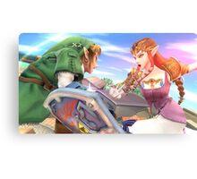 Super Smash Bros. Link and Zelda Canvas Print