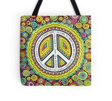 Psychedelic Polkadot Peace Tote Bag