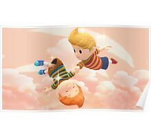Super Smash Bros. Lucas and Claus Poster