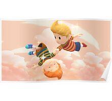 Super Smash Bros. Lucas and Claus Poster
