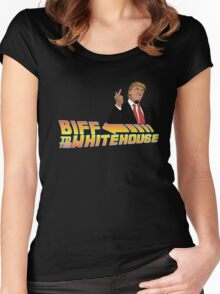 Biff To The White House Women's Fitted Scoop T-Shirt