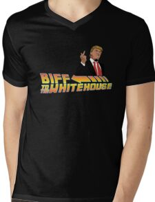 Biff To The White House Mens V-Neck T-Shirt