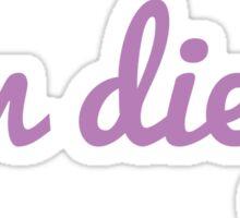 San Diego - PURPLE Sticker
