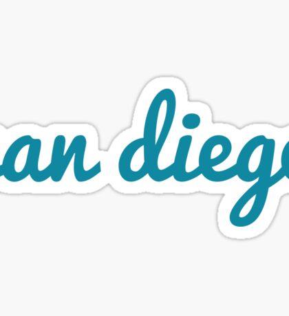 San Diego - BLUE  Sticker