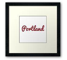 Portland - RED Framed Print