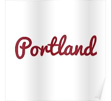 Portland - RED Poster