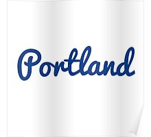 Portland - BLUE Poster
